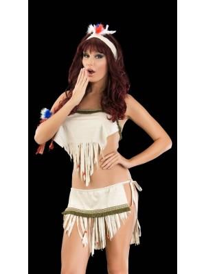 Transparan Kızıldereli Kadın Elbisesi