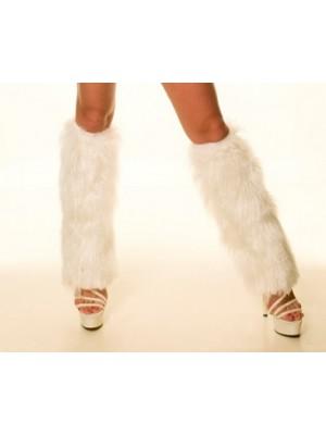 Kadın Tiftik Beyaz Peluşlu Bacaklık