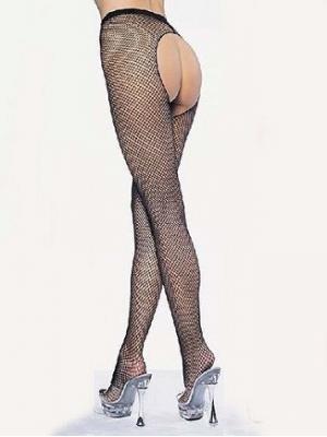 Popo Dekolteli Siyah Külotlu Çorap