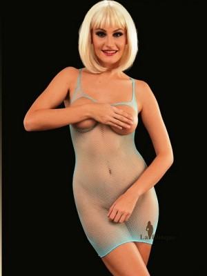 Mini Delikli Fileden Kadın Kıyafet