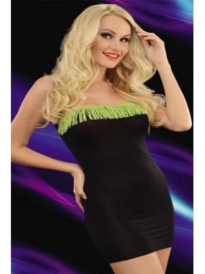 Staprez Siyah Mini Gece Elbisesi