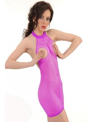 Kadın Fusya Yarım File Kıyafet